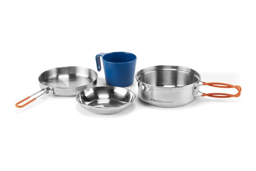 GSI Outdoors Glacier Stainless 1-Person Mess Kit