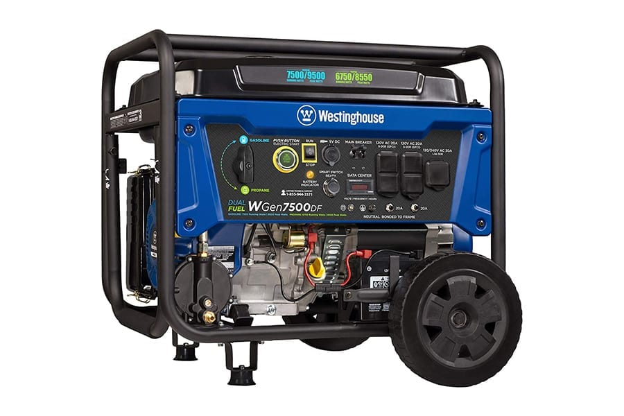 Westinghouse WGen7500DF Portable Generators for Camping