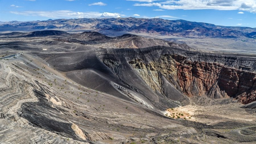 Rim of a Volcano at Death Valley National Park