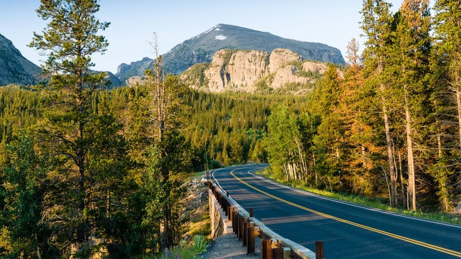 Scenic Drive in Rocky Mountain