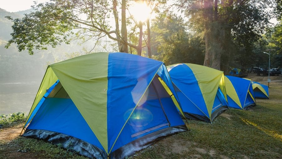 Waterproof your tent before leaving home