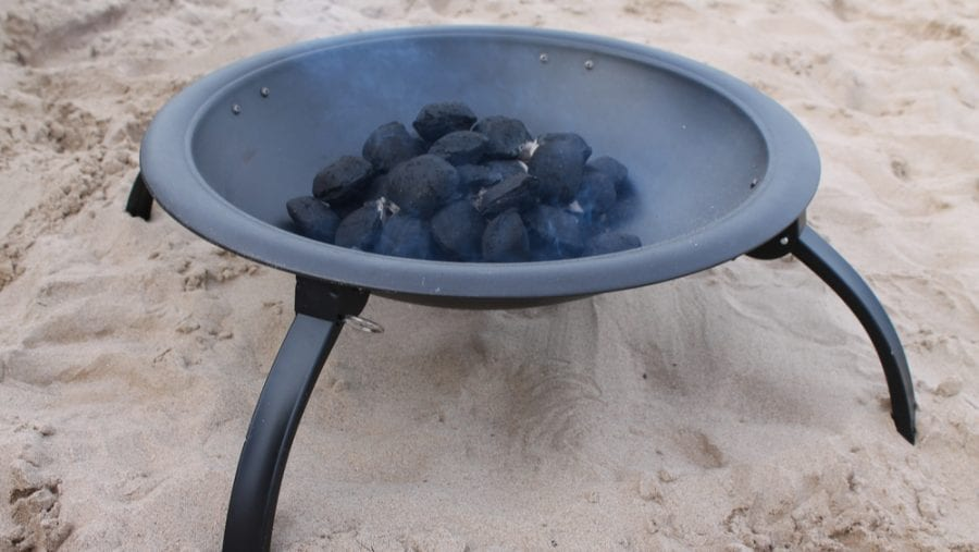 portable fire pit for beach camping