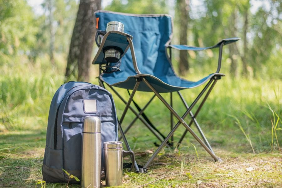 Blue Backpacking Chair