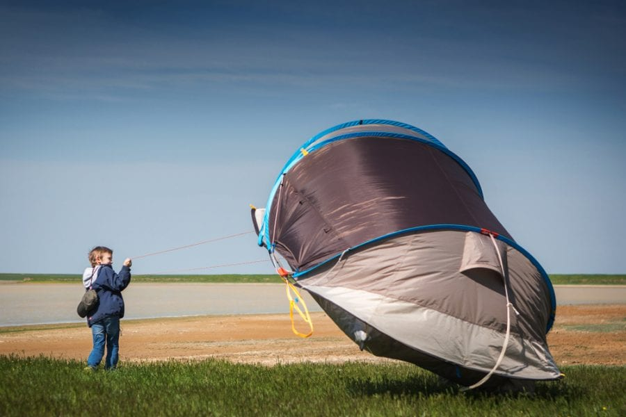 Camping on a Windy Day