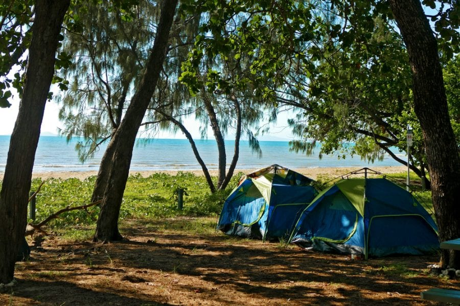 Campsite by the Beach