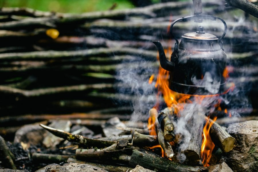 Kettle Over A Campfire